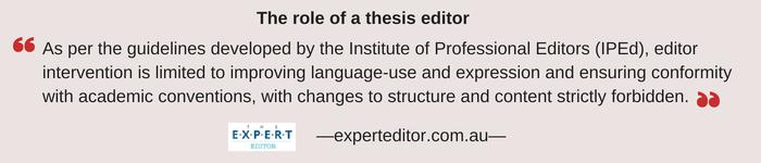 thesis editors pretoria