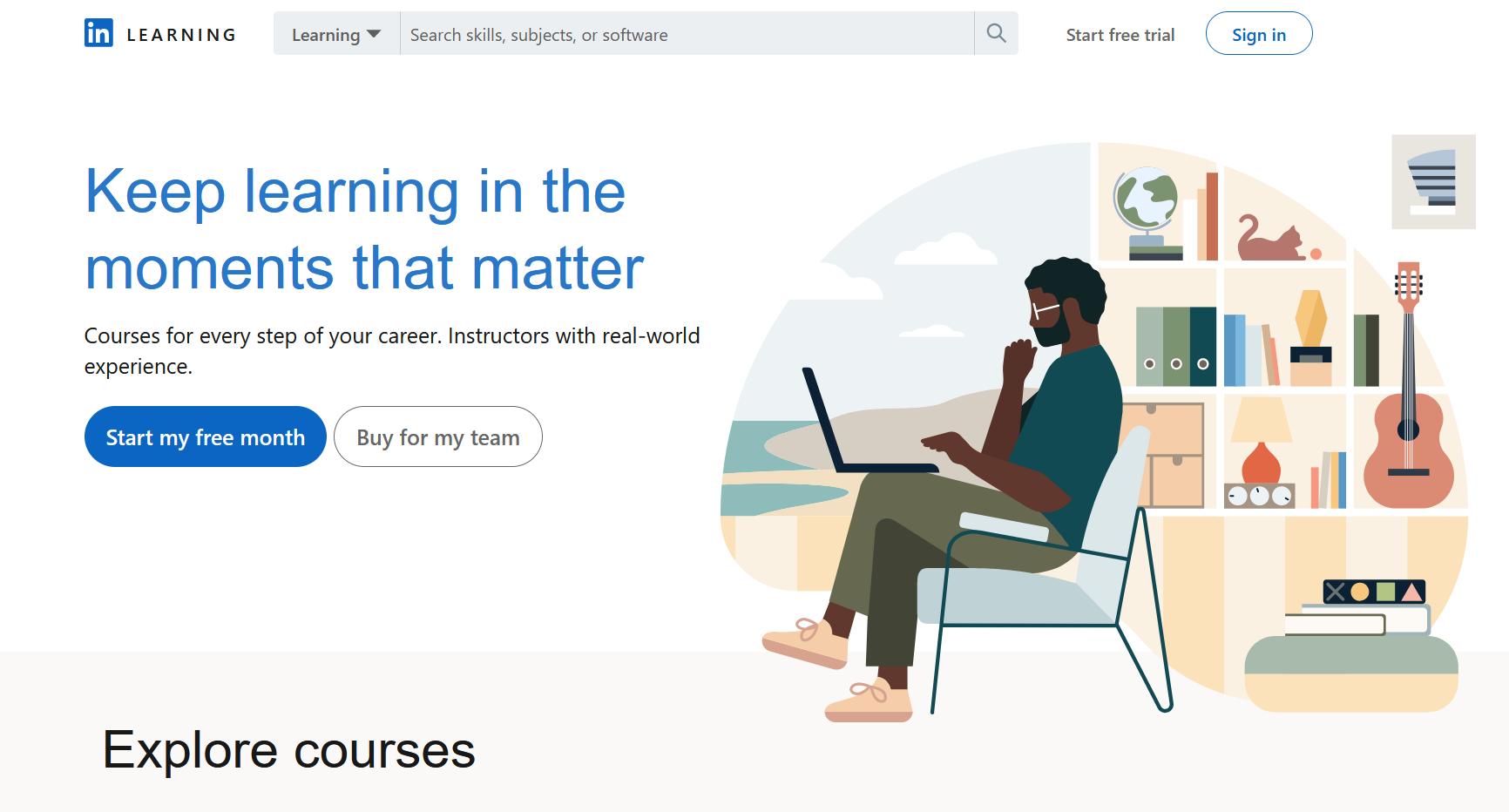 best online learning platforms linkedin