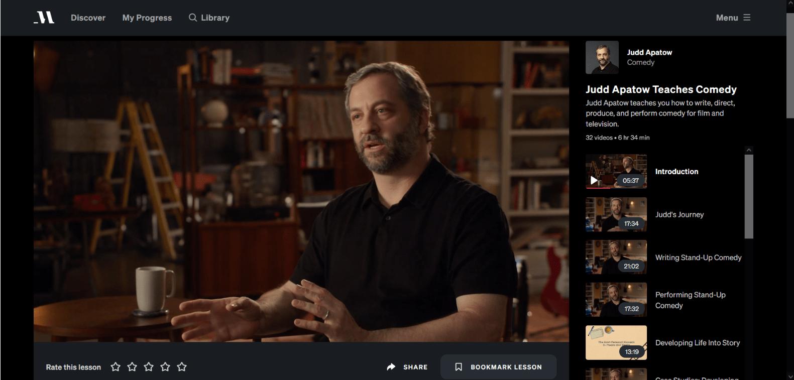 Judd apatow masterclass video